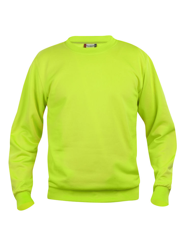 Collegegenser Clique Basic Roundneck, visibility green