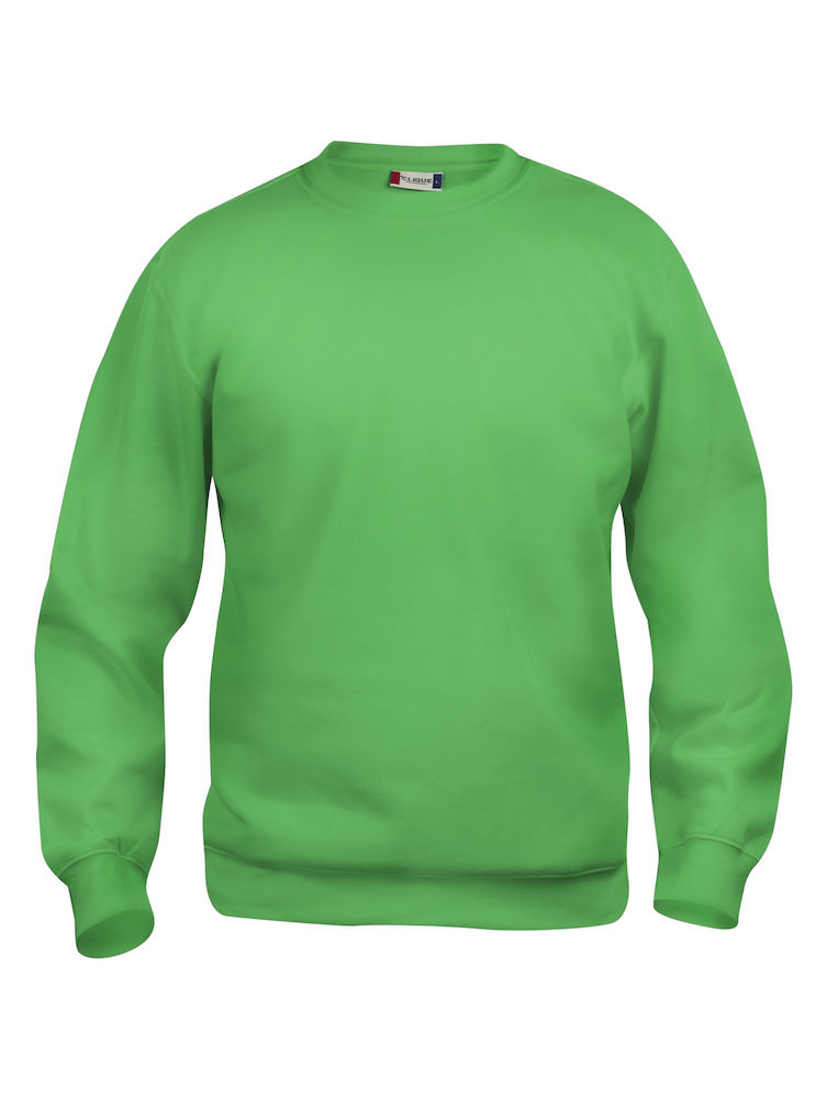 Collegegenser Clique Basic Roundneck, Eplegrønn
