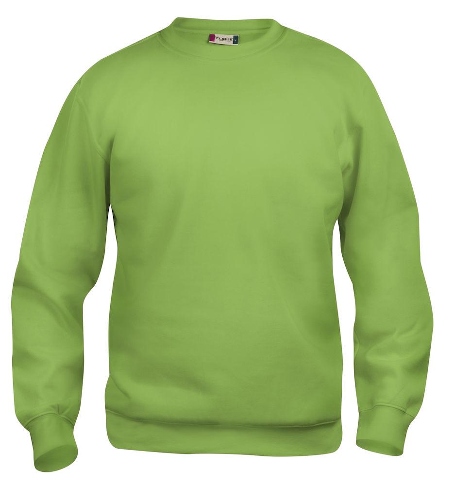 Collegegenser Clique Basic Roundneck, 67 lysegrønn