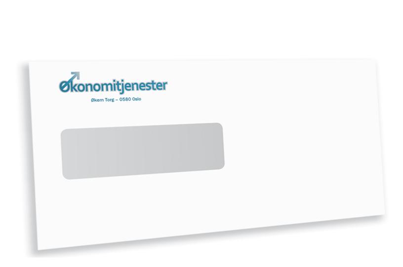 Konvolutter Med Trykk E65 Vindu Avseth Okonomiservice