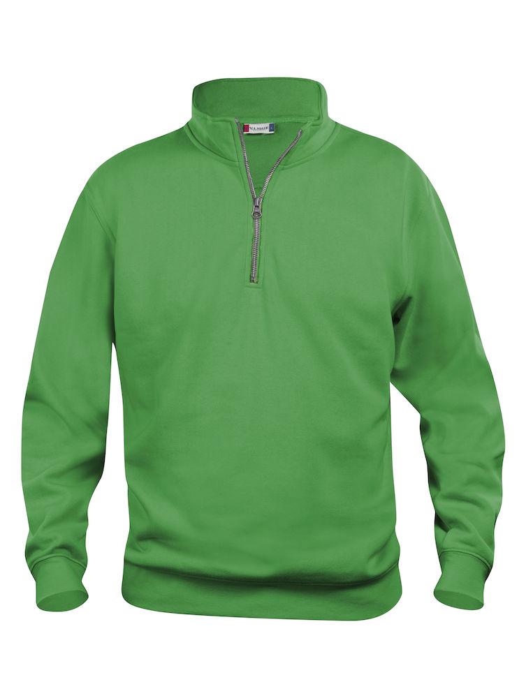 Genser Clique Basic Half Zip, Eplegrønn
