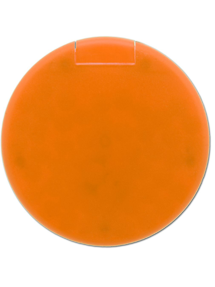 Mintdrops med logo, rund eske, Oransje