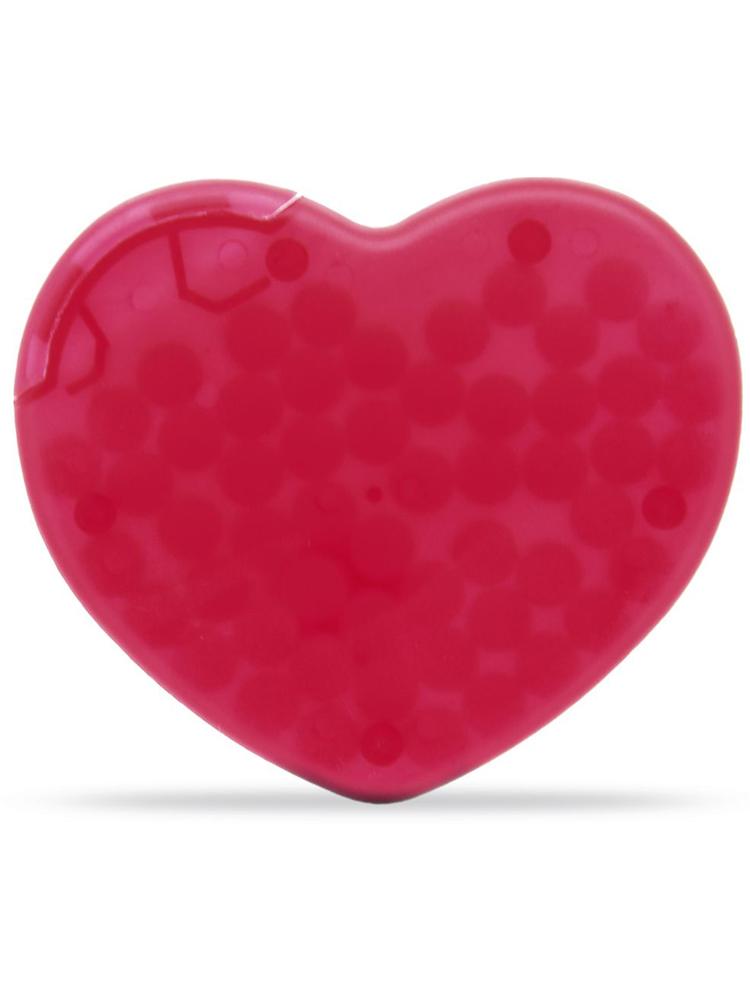 Pastiller med logo Mint hjerte, Rød
