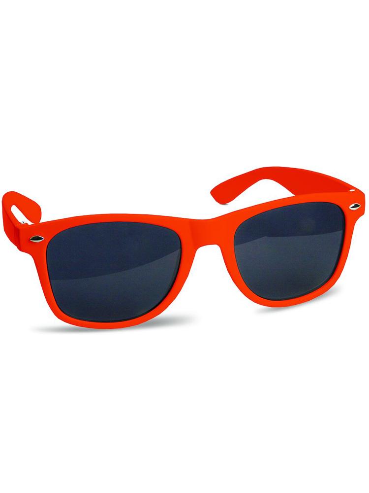 Solbrille med logo Justin Sun Oransje