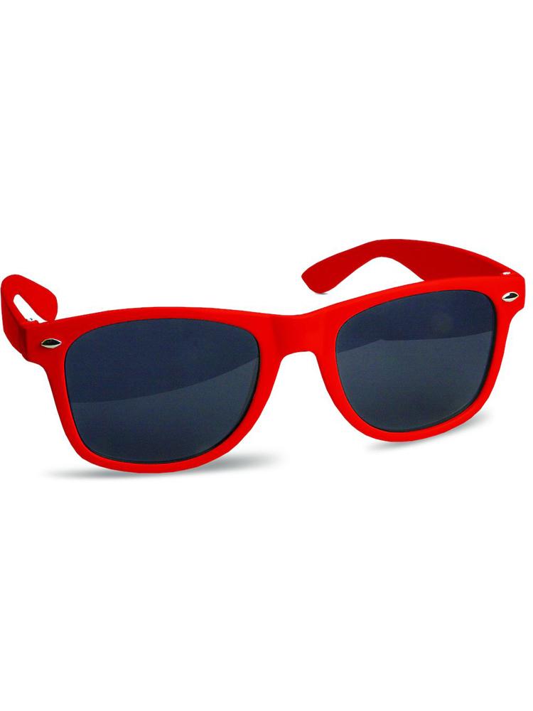 Solbrille med logo Justin Sun Rød