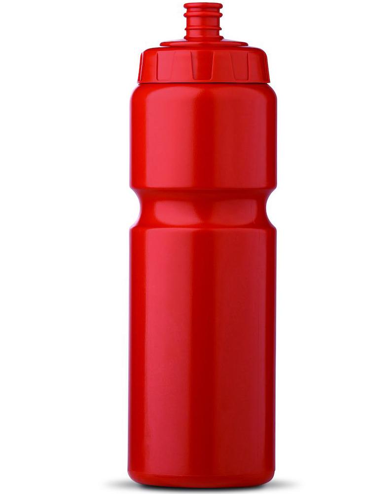 Sportsflaske med logo, Rød
