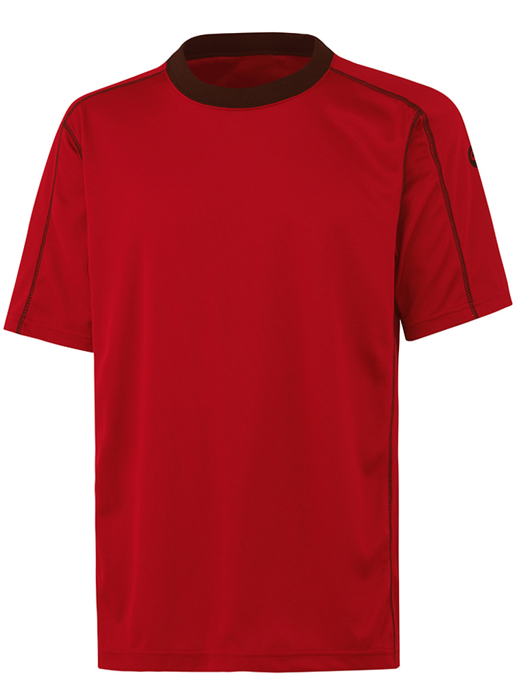 Synfiber Salida Teknisk T-skjorte, Rød med sort