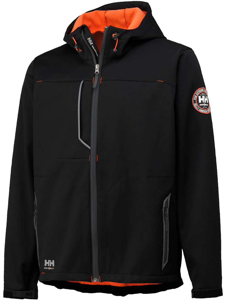Helly Hansen Leon Jacket, Black&Orange